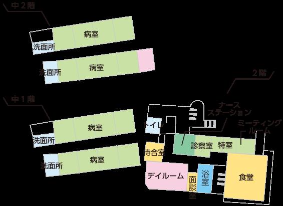 5病棟の案内図